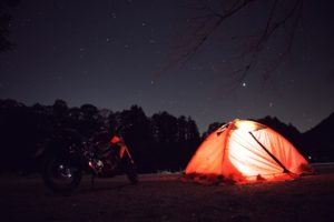 HONDA CB250R ソロキャンプ